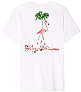 Flamingo Beach Merry Christmas T-Shirt