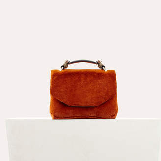 Maje Faux fur evening bag