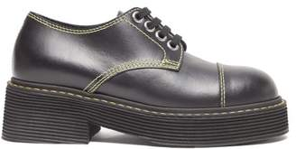 Marni Chunky Sole Leather Derby Shoes - Womens - Black