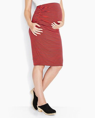 Women's Maternity Midi Skirt $88 thestylecure.com