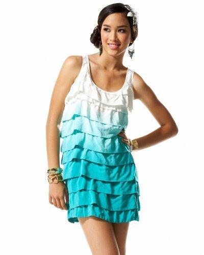 Tiered Ruffle Dip Dye Dress
