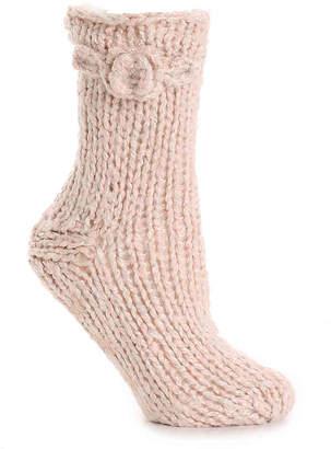 Lemon Marshmallow Slipper Socks - Women's