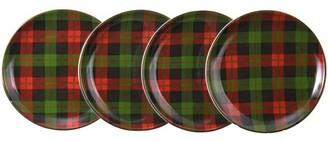 Better Homes & Gardens Plaid Microwave & Dishwasher Safe Ceramic Salad Plate Set, 4 Count