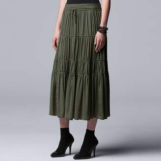 Vera Wang Women's Simply Vera Tiered Smocked Skirt