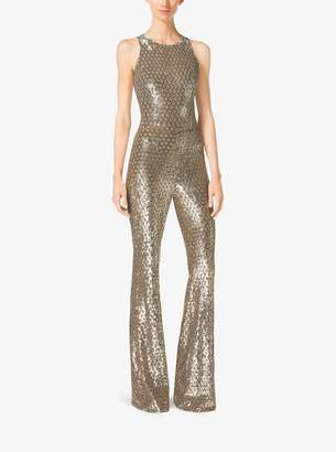 Michael Kors Sequined Mesh Jumpsuit