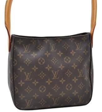 Louis Vuitton Vintage Looping Brown Cloth Handbag