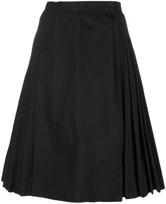 Saint Laurent Pre-Owned pleated midi-skirt