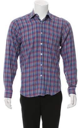 Steven Alan Multi-Colored Plaid Button-Up Shirt