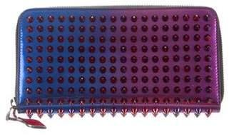 Christian Louboutin Metallic Panettone Zip-Around Wallet