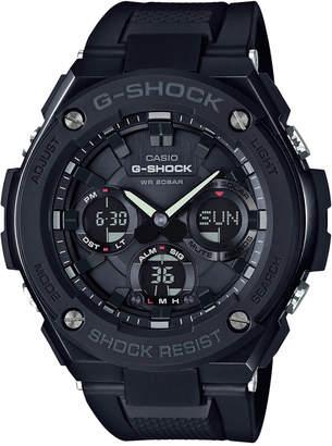 G-Shock Men's Analog-Digital Black Ip with Black Resin Strap G-Steel Watch 51x53mm GSTS100G-1B