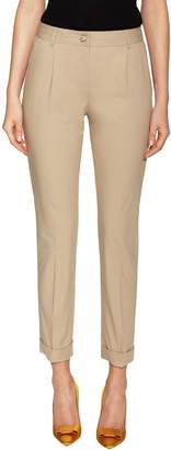 Dolce & Gabbana Women's Cotton Rolled Cuff Skinny Pant