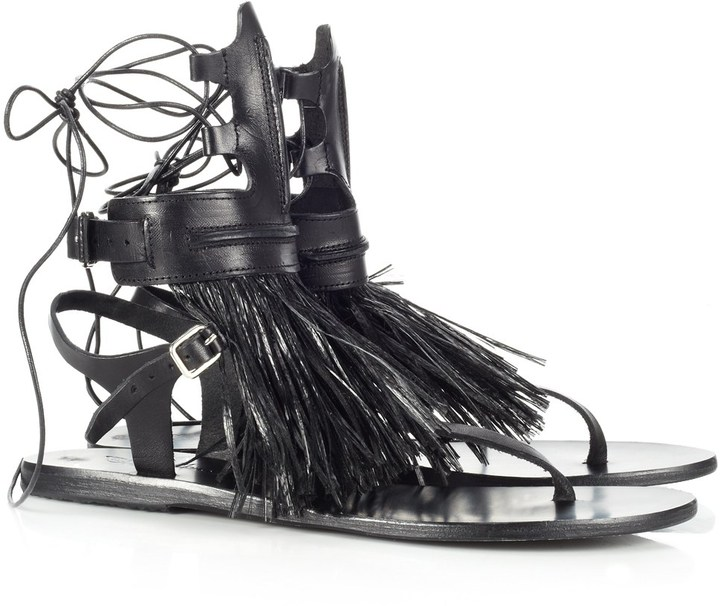 Marios Schwab Ancient Greek Sandals Leather Gladiator Sandals