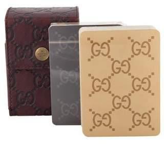 Gucci Guccissima Playing Card Set