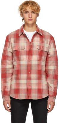 John Elliott Red Check Quilted Lining Shirt