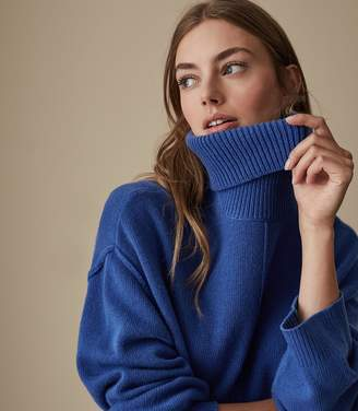 Reiss CLEO WOOL CASHMERE BLEND JUMPER Cobalt