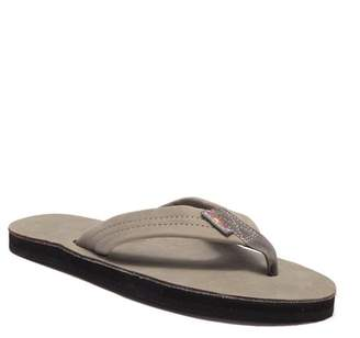 44651ea4dc7 Rainbow Single Layer Leather Flip Flop