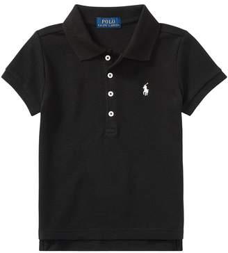 Polo Ralph Lauren Short Sleeve Mesh Polo Shirt Girl's Short Sleeve Knit