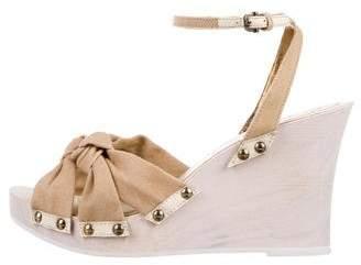 Dolce & Gabbana Canvas Platform Wedges