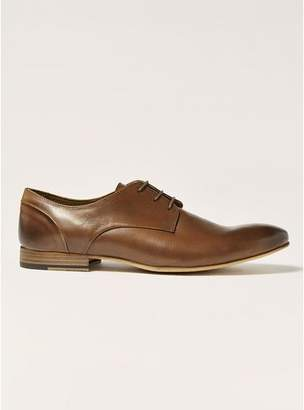 Topman Mens Brown Tan Leather Luther Derby Shoes