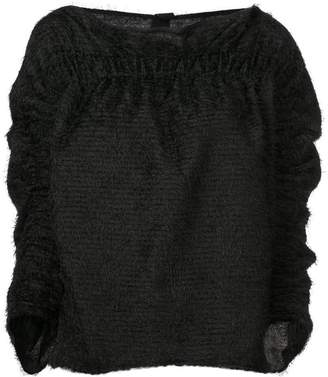 Zero Maria Cornejo cropped sleeve sweater
