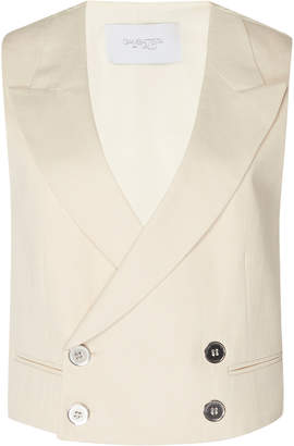Giambattista Valli Cropped Twill Double Breasted Vest