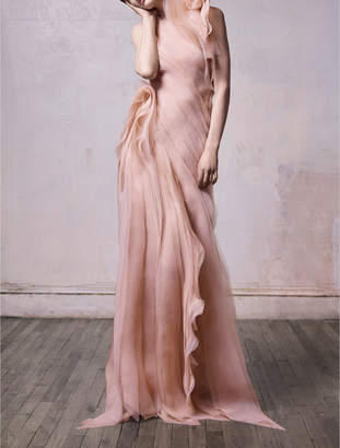 Crinkled Organza Gown