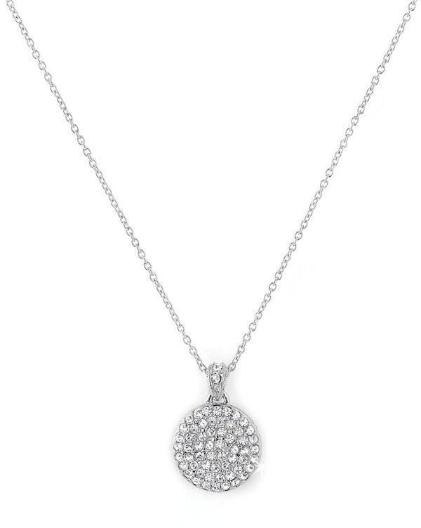 Nadri Mini Pavé Crystal Disc Pendant Necklace
