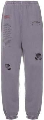 Ground Zero distressed track trousers