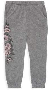 Spiritual Gangster Girl's Cotton-Blend Floral Sweatpants