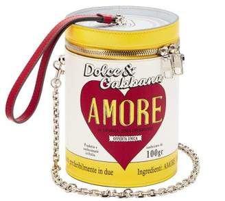 Dolce & Gabbana Amore Can Leather Clutch - Womens - Yellow White