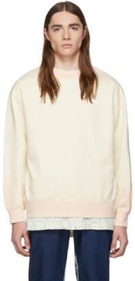 Eckhaus Latta Off-White and Pink Ombre Edge Sweatshirt