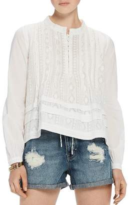 Scotch & Soda Embroidered Cotton Top