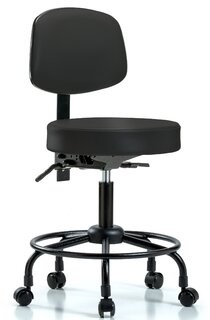 Symple Stuff Norma Round Tube Base Desk Height Ergonomic Office Chair Symple Stuff
