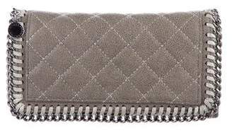 Stella McCartney Quilted Falabella Continental Wallet