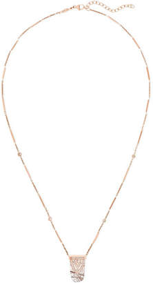Jacquie Aiche 14-karat Rose Gold, Diamond And Crystal Necklace