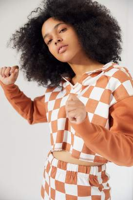 Out From Under Checkmate Cropped Hoodie Sweatshirt
