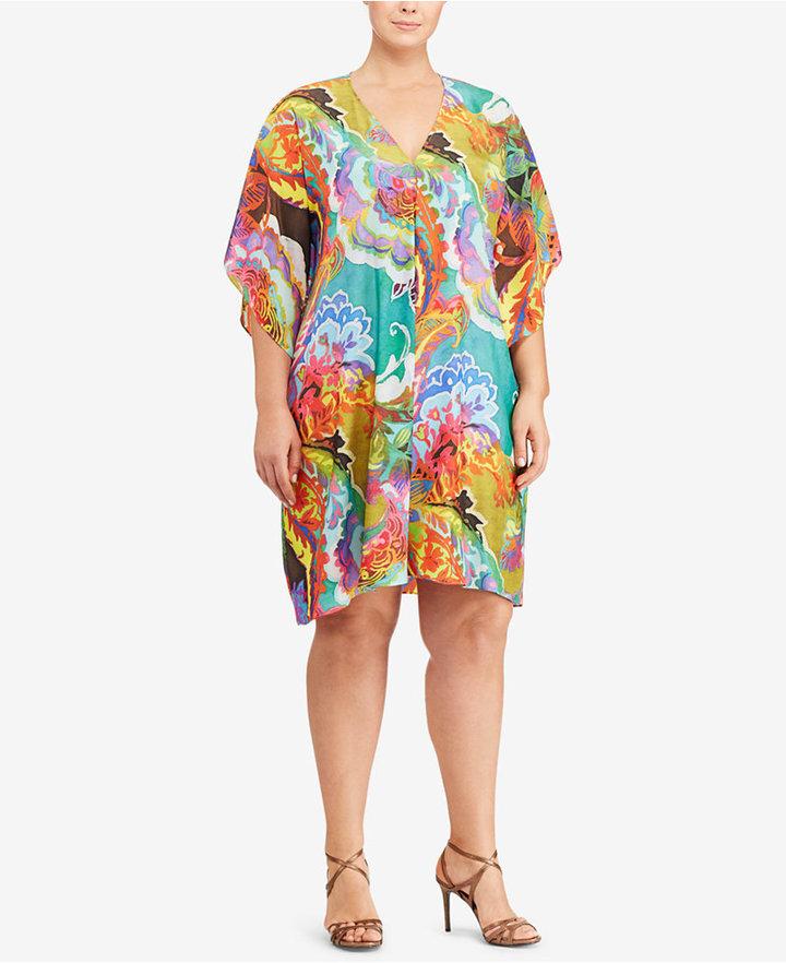 Lauren Ralph LaurenLauren Ralph Lauren Plus Size Floral-Print V-Neck Dress