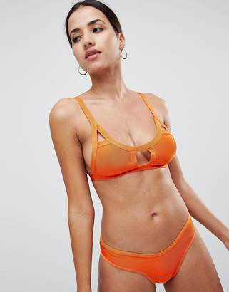 Missguided Bandage Cut Out Detail Bikini Top