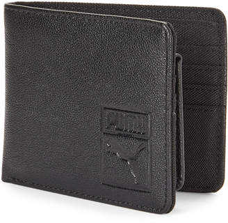 Puma Solid Tone Faux Leather Billfold Wallet
