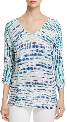 Nic+Zoe High Point Ombre Dot Top