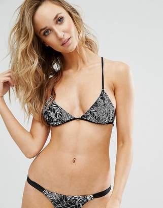 Somedays Lovin Floral Triangle Bikini Top