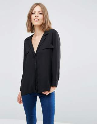 ASOS Clean Pajama Blouse with Pocket Detail $45 thestylecure.com