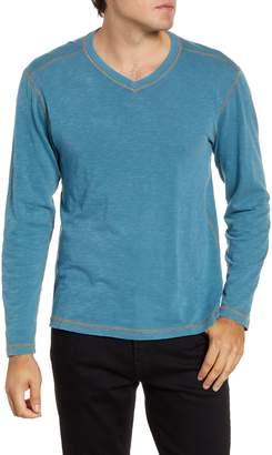 Agave Kick Long Sleeve V-Neck Slub T-Shirt