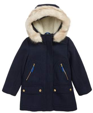 J.Crew crewcuts by Stadium Cloth Parka with Faux Fur Trim