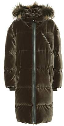 Brunello Cucinelli Fur-trimmed velvet down coat