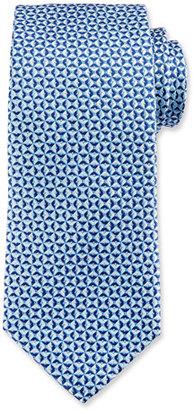 Eton Textured Pinwheel Woven Silk Tie, Blue $145 thestylecure.com