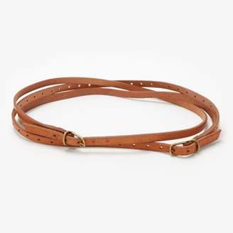 Farah Johnny Leather & Brass Crown Belt Natural