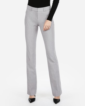 Express Mid Rise Striped Barely Boot Columnist Pant