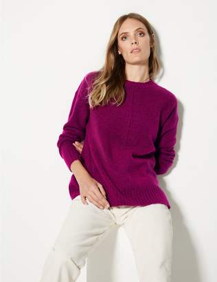 Marks and Spencer Relaxed Supersoft Round Neck Jumper
