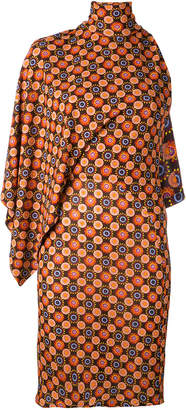 Givenchy asymmetric high-neck dress